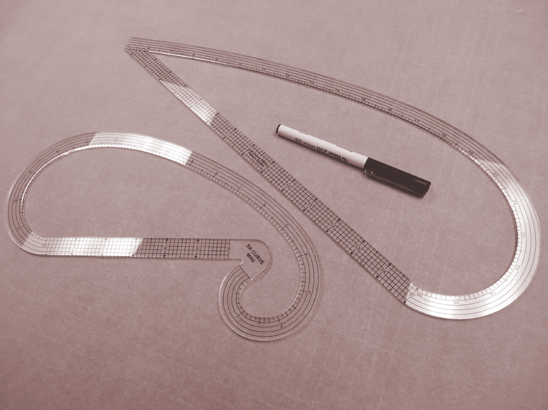 "Seam Allowances 3//8/"" Mini-Curved Ruler for Pattern Drafting"
